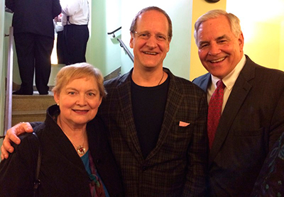 Ken and Penny Fischer with composer Lowell Liebermann